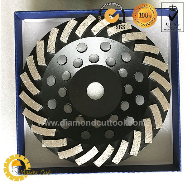 7 inch turbo diamond cup grinding wheel