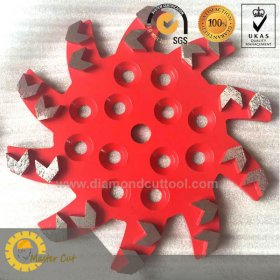 10 inch bolts-on arrow segments diamond grinding plate for concrete floor