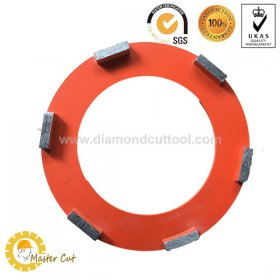 6 Segments Klindex 10inch 240mm diamond grinding wheel for concrete and stone floor
