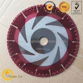 General purpose vacuum brazed diamond rescue blades for firefighter