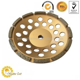 Standard single row diamond grinding cup wheel for stone and concrete