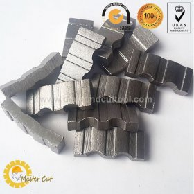 High efficiency turbo concrete diamond segment for core drill bit