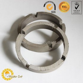 Crown diamond core drill bit segment for concrete and granite