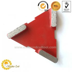 Customize Triangle metal bond diamond grinding plate disc for concrete floor