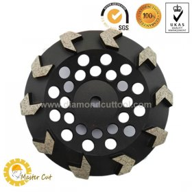 "7"" 180mm arrow segment diamond grinding cup wheel for angle grinder with M14 5/8-11"