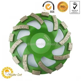 5 inch angle grinder spiral diamond grinding wheel for European market