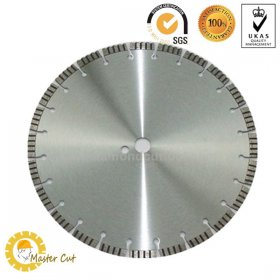 Laser welding turbo segment diamond saw blade for cutting concrete