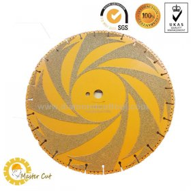 Vacuum brazed multi-purpose diamond rescue blade for firefighter