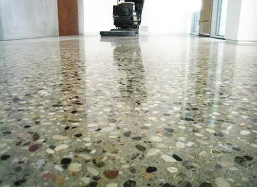 how to grind concrete floor