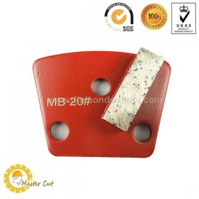 Trapezoid metal bond single bar ASL diamond grinding shoe for concrete