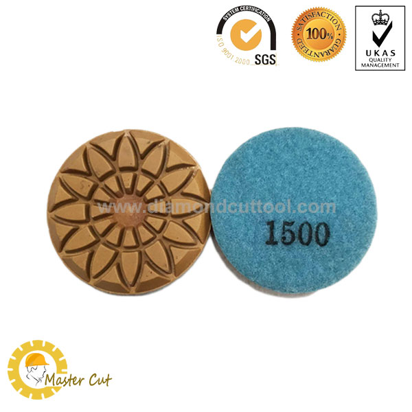flower type diamond floor polishing pads