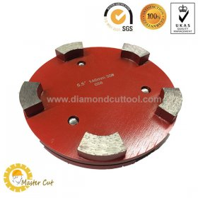 "5.5"" metal bond Klindex diamond grinding plate for concrete floor"