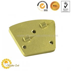 Trapezoid metal bond 2 quarter round M6 PCD grinding plate for Innovetech