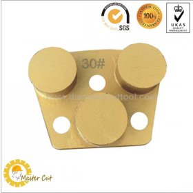 3 round segment ASL 3 hole magnetic diamond floor grinding plate disc