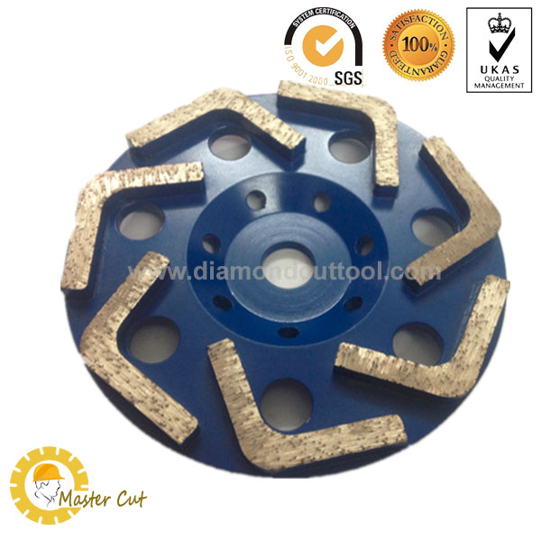 V shape diamond grinding cup wheel