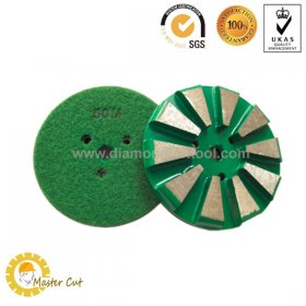 3 inch velcro backing 10 segments diamond floor grinding pads