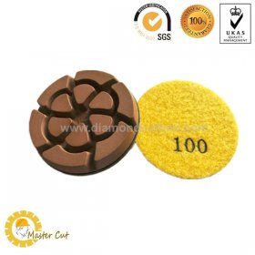 3 inch Cyclone resin diamond polishing pads for concrete floor