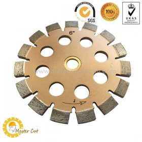 "6"" laser welded tuck point diamond blades for concrete repointing"
