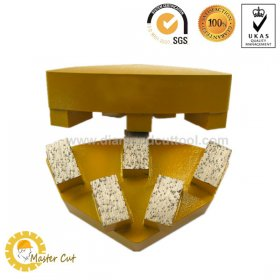 Metal bond Cassani diamond grinding shoe for concrete and marble floor