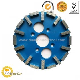 "Fast grinding 10"" metal bonded diamond grinding plate for concrete"