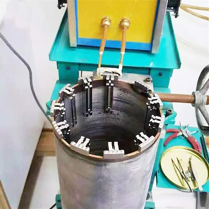 diamond core drill bit welding with magnet holder
