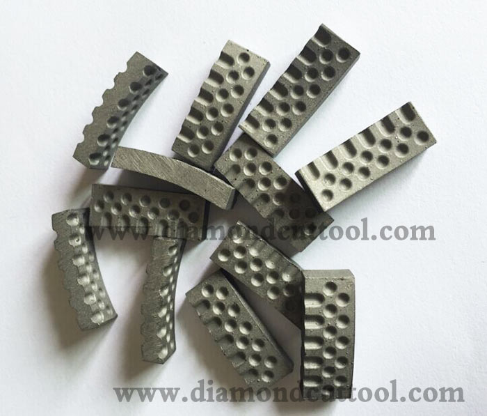 dimple core bit segment or aero diamond segment for concrete